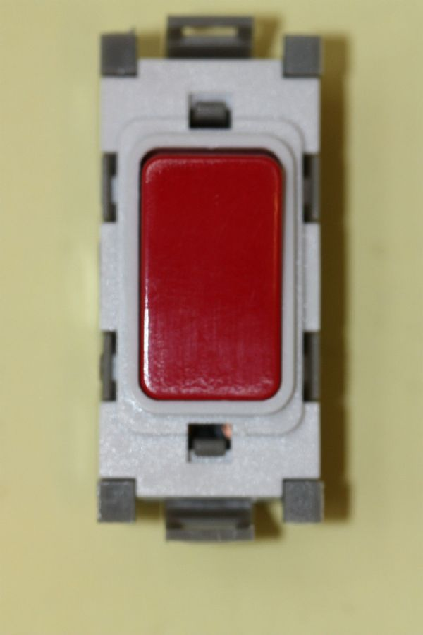 Deta Gridswitch - G3514RD - 20a Double Pole Red Rocker Grid Switch Module New